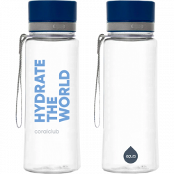 EQUA műanyag kulacs «Hydrate the world» 600 ml