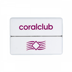 GoBox mini lila Coral Club logóval